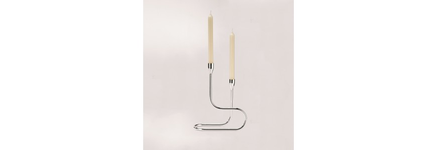 Silver Candle holder - Grand Gourmet
